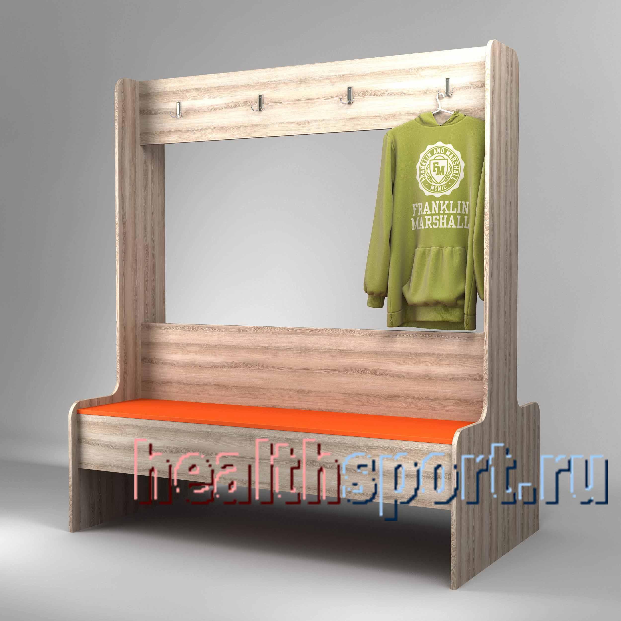 Скамейка с вешалкой Омега 2