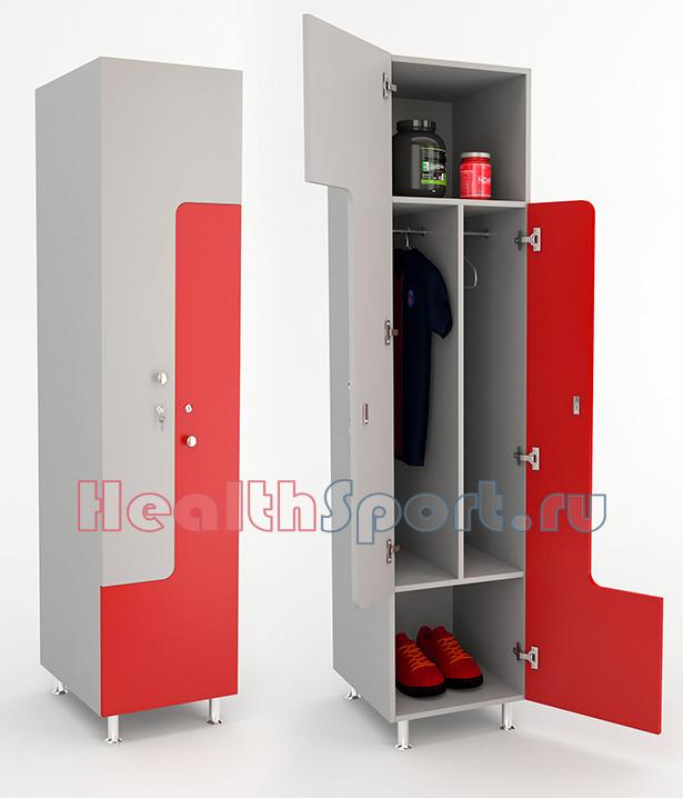 Шкаф для одежды Z-образный 40 с 3 полками