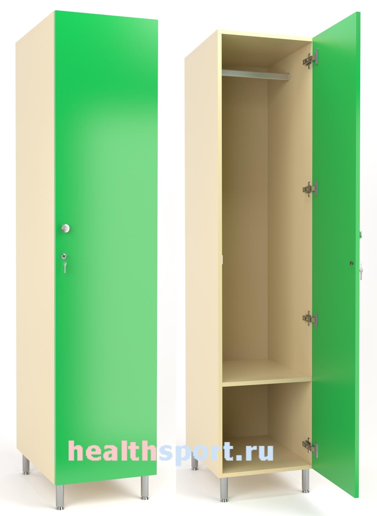 Шкаф для одежды Сингл 2 с полкой