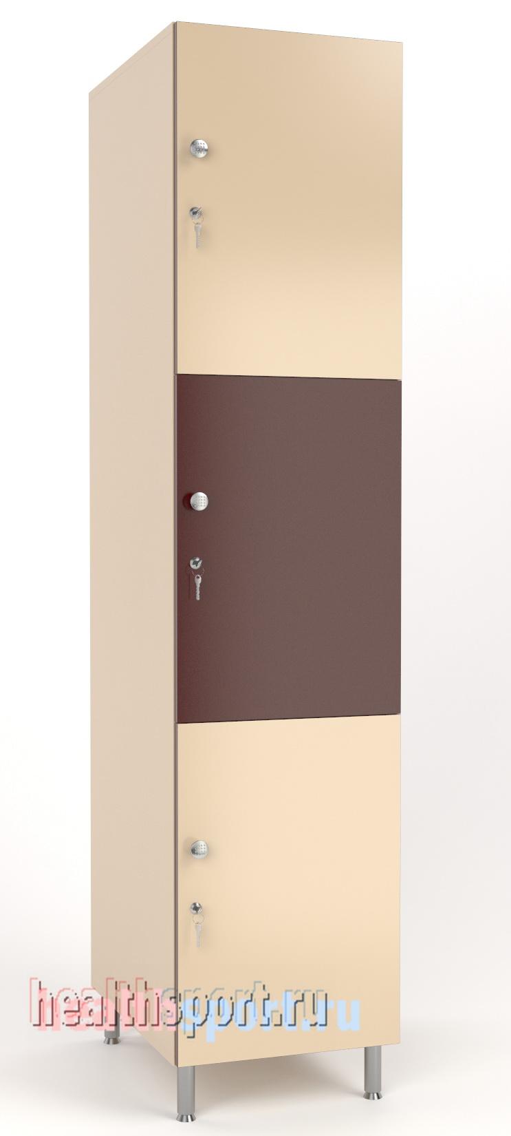 Шкафчик в раздевалку Трио 3 секции