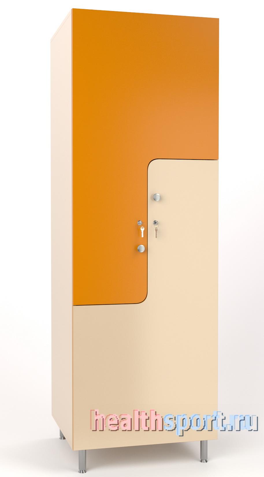 2 секционный  шкаф для раздевалки  Z-образный 50