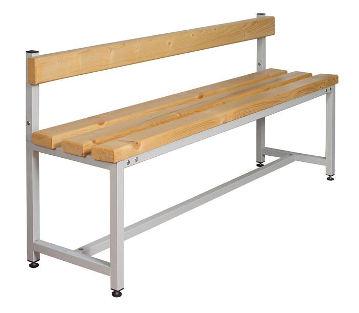 Скамейка для раздевалки со спинкой 100-200 см