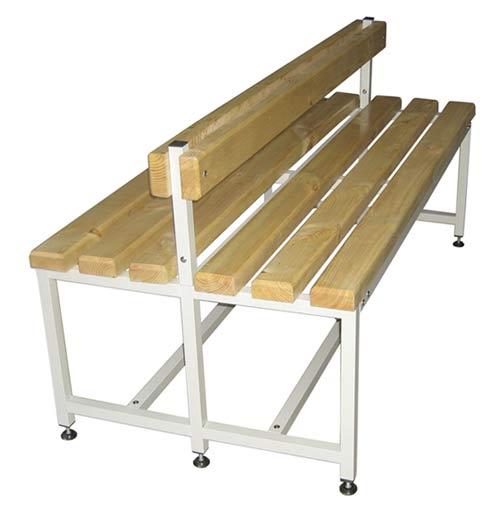 Скамейка двойная для раздевалки 100-200 см