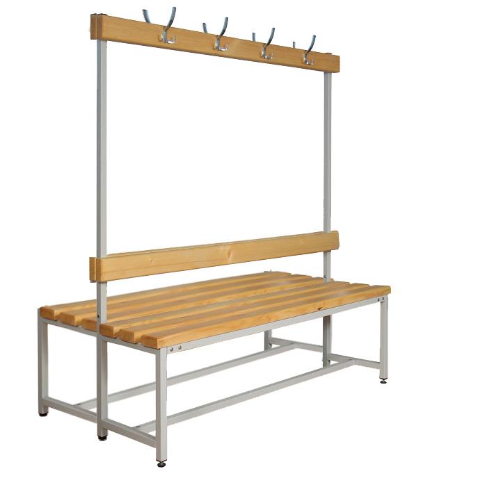 Скамейка с вешалкой двойная 100-200 см