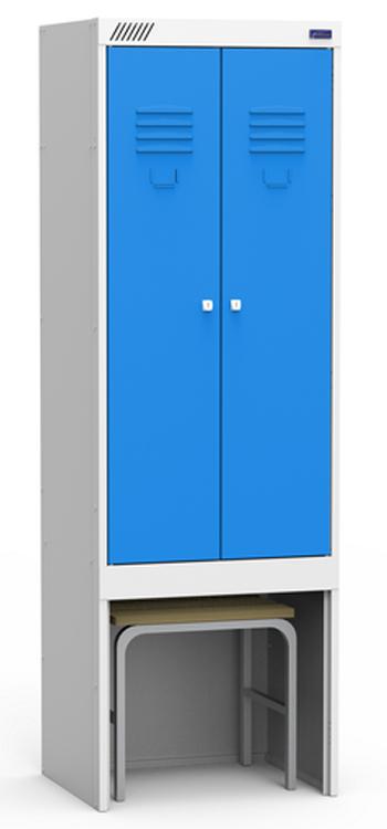 Металлический шкаф для одежды ШЭРК 22-530 ВСК