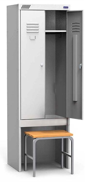 Металлический шкаф для спецодежды ШРК-22-600 ВСК