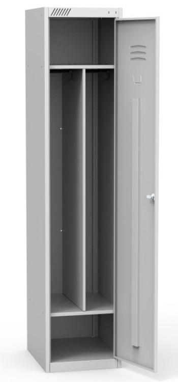 Металлический шкаф для одежды ШРС 11-400 с перегородкой