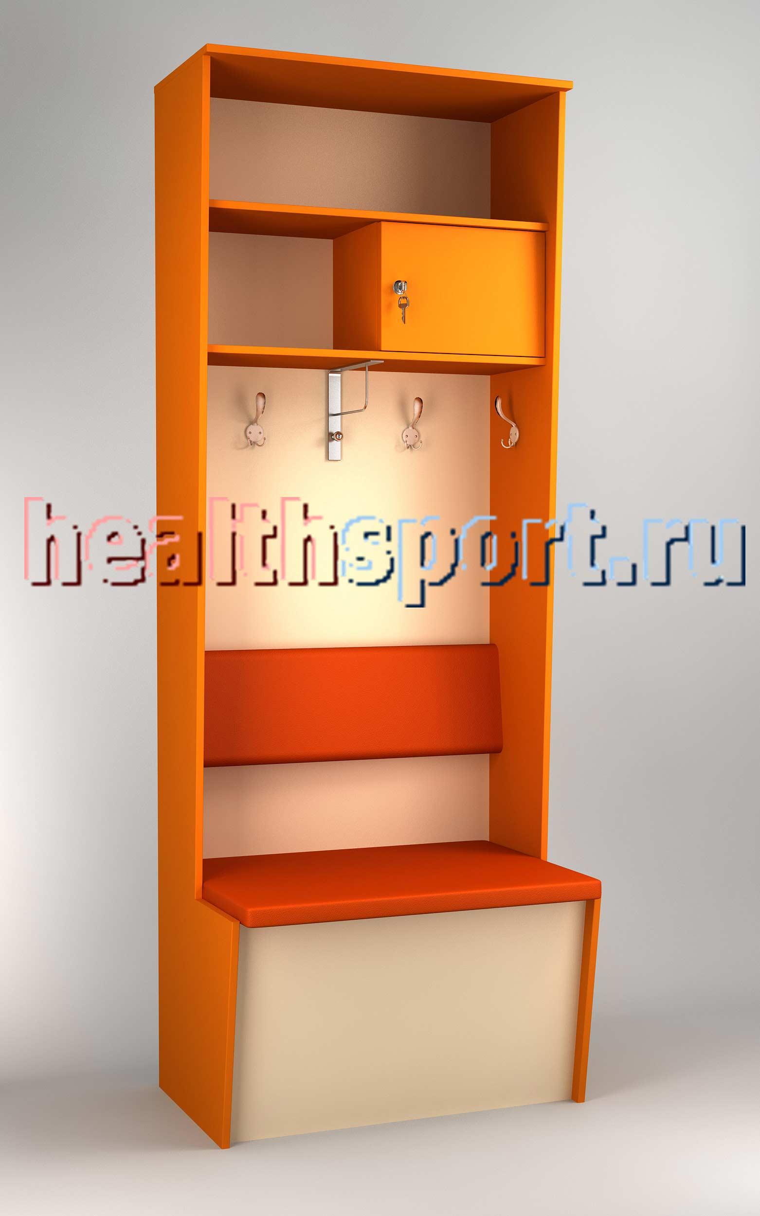 Шкаф для раздевалок Футболист 2 с полкой